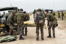 militaires de l'eurocorps à l'entrainement