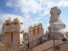 Barcelone - toit de la casa Mila, la Pedrera